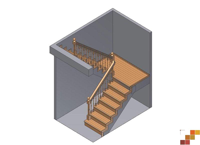 Деревянные лестницы с поворотом на 180 градусов своими руками