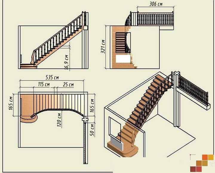 Лестницы на второй этаж своими руками фото