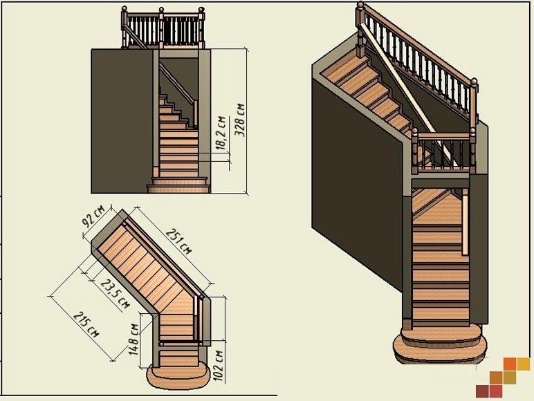 Фото лестниц на второй этаж в частном доме своими руками расчет фото 39