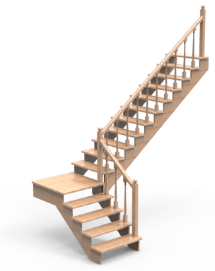 Лестница ЛС-91м Деревянные лестницы из сосны Лестницы